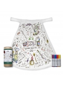 """Fairy-tale cape """"School of wizards"""" - cape for colorig """"- 2-10 years"""