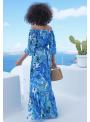 """Maxi šaty """"Modrý dažďový prales"""" - XS"""