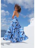"Maxi dress ""Blue feathers"""