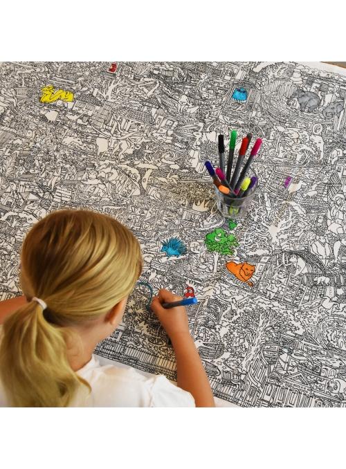Život v ZOO – interaktivní ubrus na vybarvování, vybarvuj a uč se