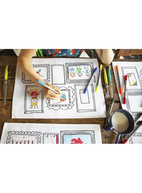 Obrazy - interaktivní prostírání /set 4/ na vybarvování, vybarvuj a uč se