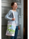 Butterfly Garden - large shoulder bag - color and learn