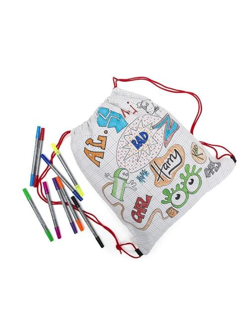 Doodle – batůžek na vybarvování - vybarvuj a uč se