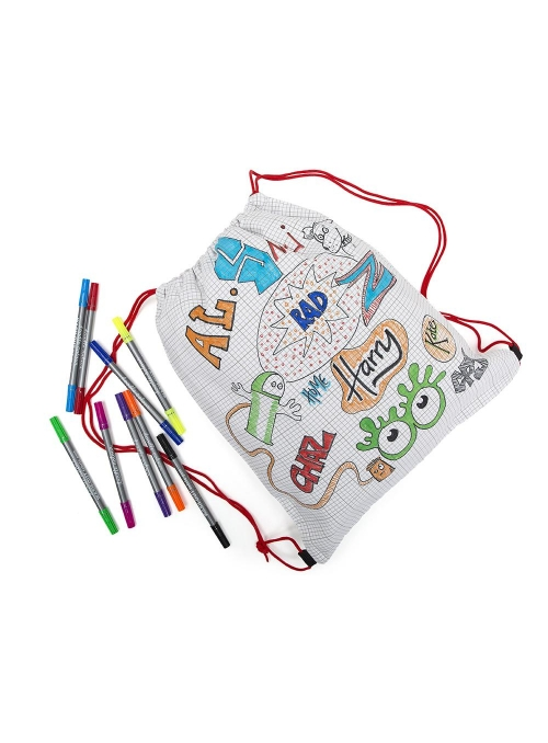 Doodle - backpack for coloring - color and learn