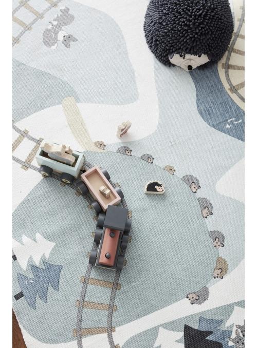 Detský koberec s koľajnicami 130x170cm