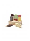 Detské drevené nanuky so stojanom, Bistro