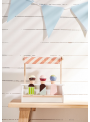 Detské drevený stojan so zmrzlinou na nanuky, Bistro