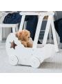 Drevený kočík pre bábiky Princess