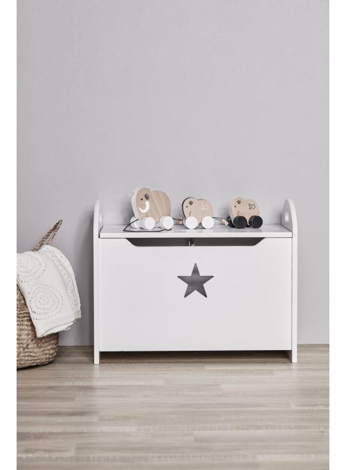 Drevený box na hračky, moja malá hviezdička