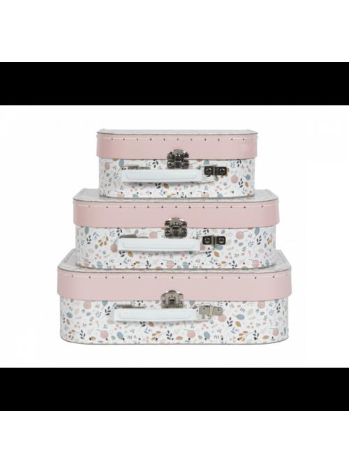Set 3 dětských kufříků Jarní louka