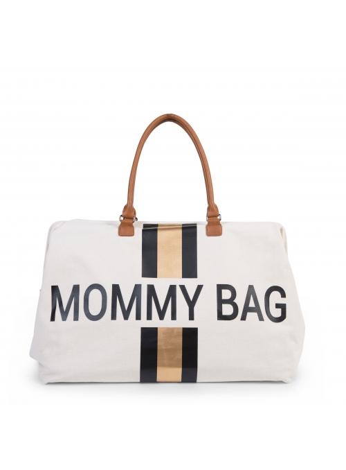 Velká přebalovací taška MOMMY BAG, krémovo bílá + zlatá