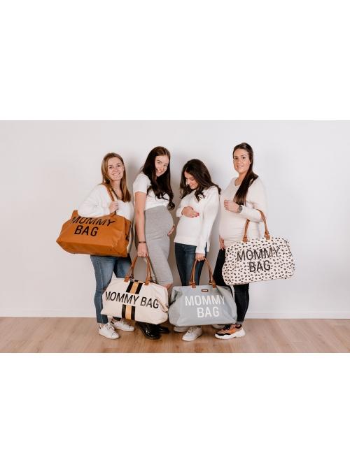 Veľká prebaľovacia taška MOMMY BAG, krémovo biela + zlatá