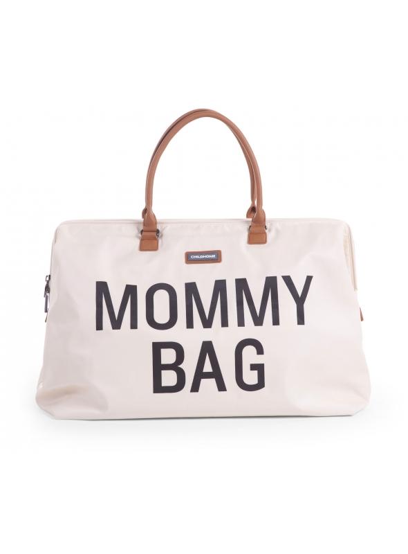 Veľká prebaľovacia taška MOMMY BAG, krémovobiela