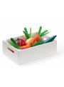 Detská drevená bednička so zeleninou, Bistro