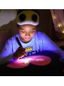 Zábavný iluminačný vankúš srdiečko + laser pero