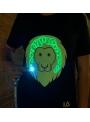 LIMITKA Detské zábavné iluminačné tričko čierne LEVÍK +laser pero, 3-4 roky