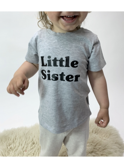 Tričko LITTLE SISTER šedé