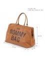 Veľká prebaľovacia taška MOMMY BAG, hnedá