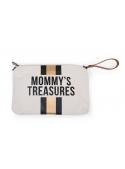 Mini taška s poutkem a řemínkem MOMMY´S TREASURES, krémovo bíla+zlatá