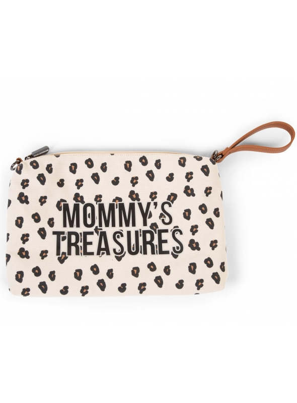Mini taška s putkom a remienkom MOMMY´S TREASURES, leopardia