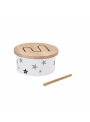 Detský mini drevený bubon, biely