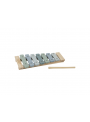 Detský drevený xylofón, modrý