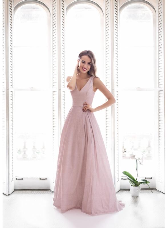 Francesca - maxi šaty, ružové - S