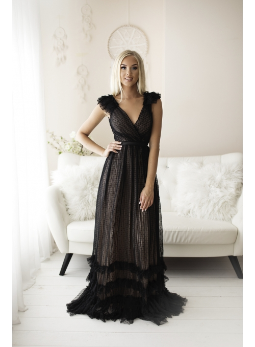 Skylar - maxi šaty, čierne - S