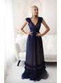 Skylar - maxi šaty, tmavomodré - S