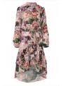 Kvetulienka - padavé šaty s dlhým rukávom - S