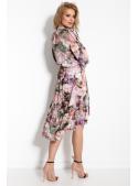 Kvetulienka - padavé šaty s dlouhým rukávem