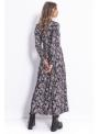 Mistical - padavé šaty s dlhým rukávom - S