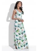 Kolibřík - maxi padavé šaty na ramínka