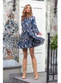 Dandelion - padavé mini šaty s dlouhým rukávem