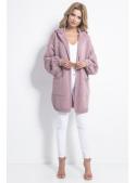 Oversize pudrově růžový kardigan - UNI