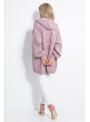 Oversize pudrovo ružový kardigan - UNI