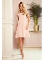Mini šaty s vreckami, ružové - S