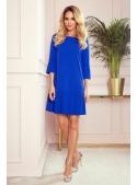 """Mini šaty """"Amanda"""" s plisováním, modré"""