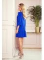 "Mini šaty ""Amanda"" s plisovaním, modrá - S"