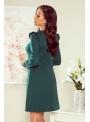 "Mini šaty ""Ester"" s dlhým rukávom, zelená- S"