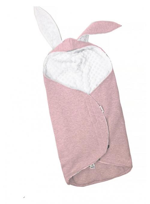 Bavlnený spací vak - Zajačik, ružový