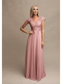Rosalina - Maxi šaty s krajkou a padavou sukní