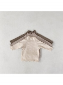 Krémový bíly dětský top s tečkami