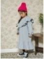 Šedé dětské šaty s volánem