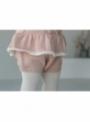 Detský pletený overal na traky so srdiečkami, ružový - 5-6 rokov