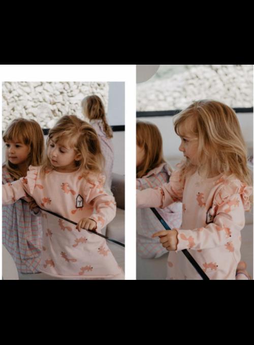 """Set - šaty """"Veverička"""" + legíny- 3-5 rokov"""