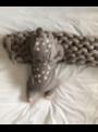 Bambi - dětské body s kapucí, šedé