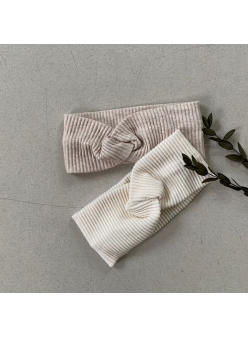 Dětská pletená čelenka, krémová bílá