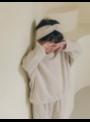 Detská pletená čelenka, krémová - uni