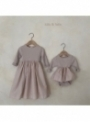 Mauve princess, detské šaty - 3-6 mesiacov